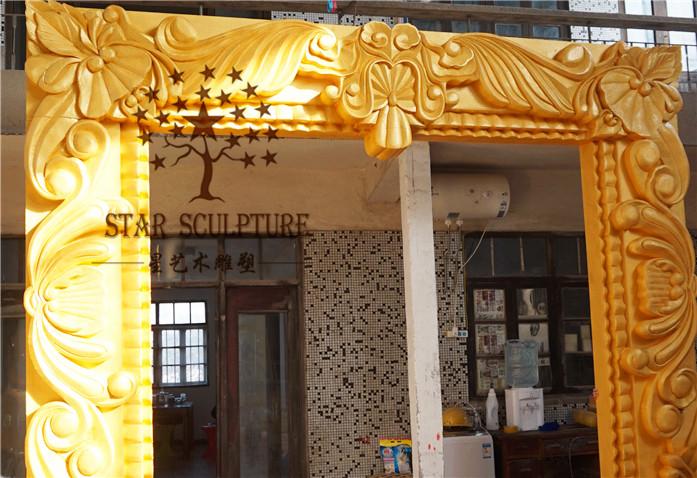 星艺术雕塑-欧式雕花拱门泡沫雕塑