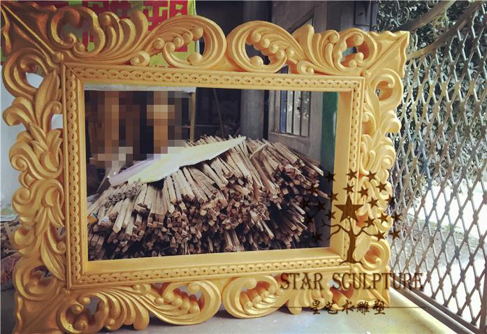 星艺术雕塑-欧式雕花镜框
